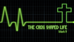 the cross shaped life audio button